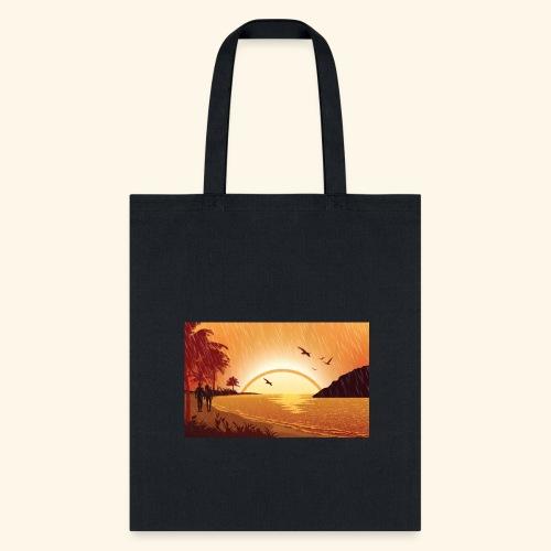 Rainy Beach - Tote Bag