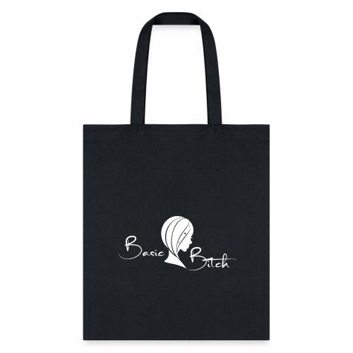 Basic Bitch Logo White - Tote Bag