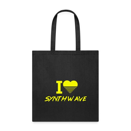 I heart synthwave (yellow) - Tote Bag