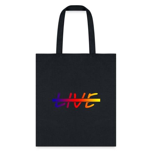 Live Logo Gradient - Tote Bag