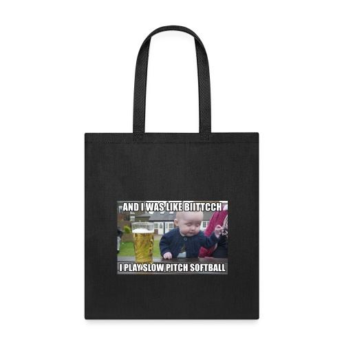 I play softball - Tote Bag