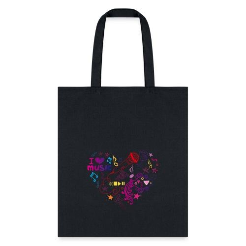 T-shirts music love - Tote Bag