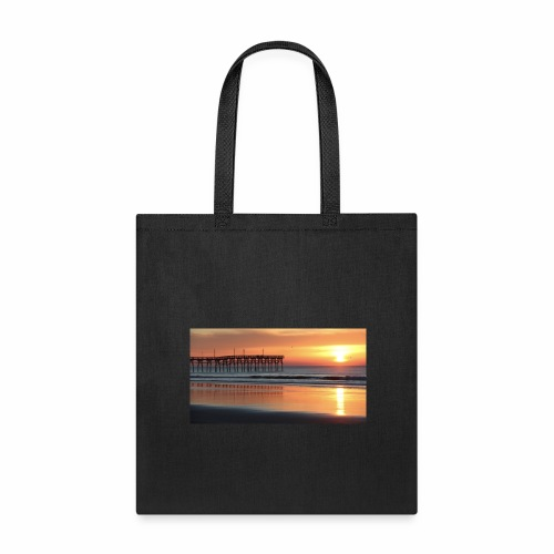 fall sunset on the beach - Tote Bag