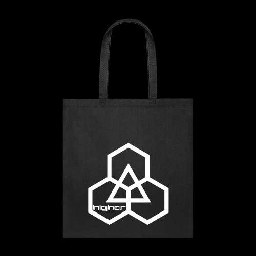 Higher text logo (white) - Tote Bag