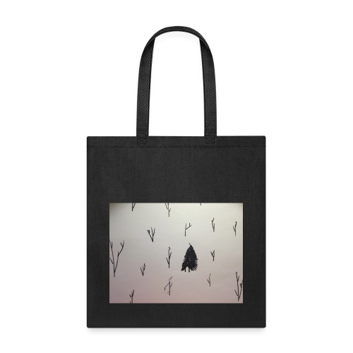 Black and White lone Tree. - Tote Bag