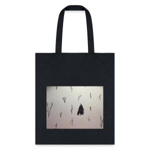 Black and White lone Tree. - Tote Bag