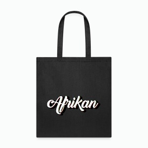 Cursive Afrikan Black with White fill - Tote Bag