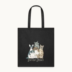 CATS - SENTIENT BEINGS - Carolyn Sandstrom - Tote Bag