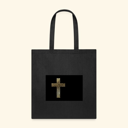 Gold Leaf Cross - Tote Bag
