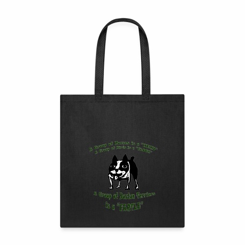 Boston Terrier Fartle - Green - Tote Bag