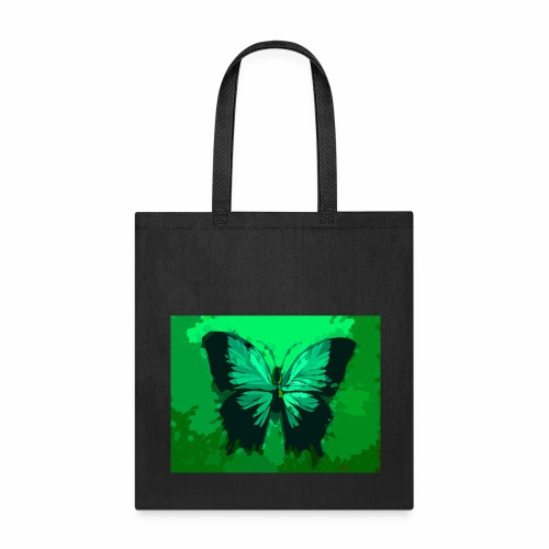 Light Green Butterfly - Tote Bag