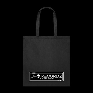 Black on White UFO Recordz - Tote Bag