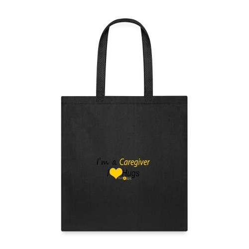 Caregiver Hugs - Yellow - Tote Bag