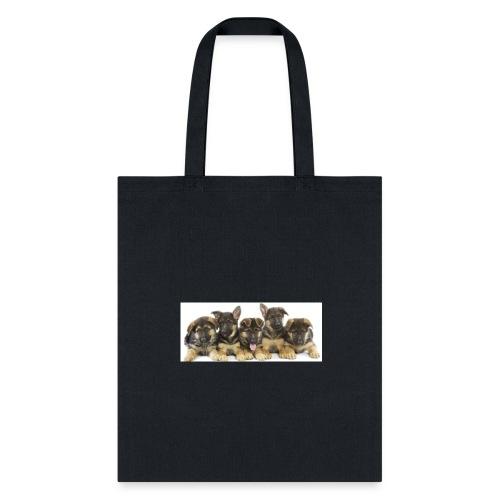 cropped german shepherd puppies - Tote Bag