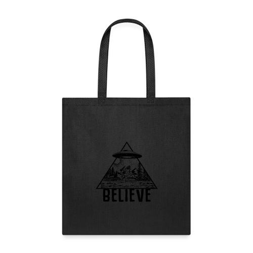Alien Bigfoot Abduction Shirt UFO Sasquatch Believ - Tote Bag