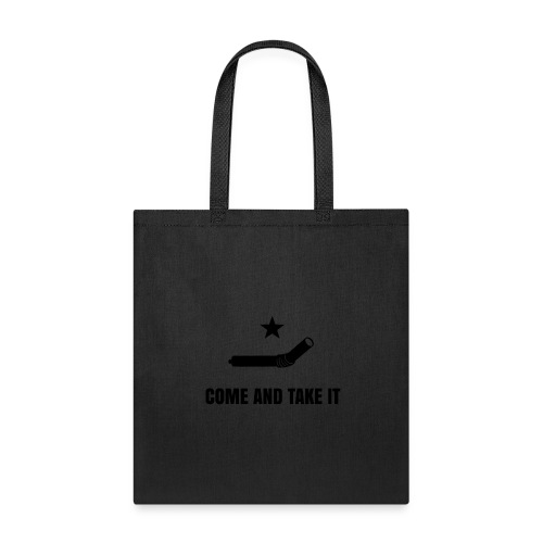 COME AND TAKE IT STRAW - BLACK - Tote Bag