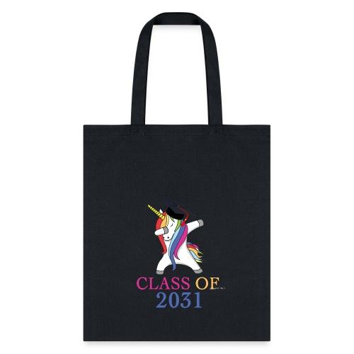 Class of 2031 Unicorn Cool Kindergarten T Shirt - Tote Bag