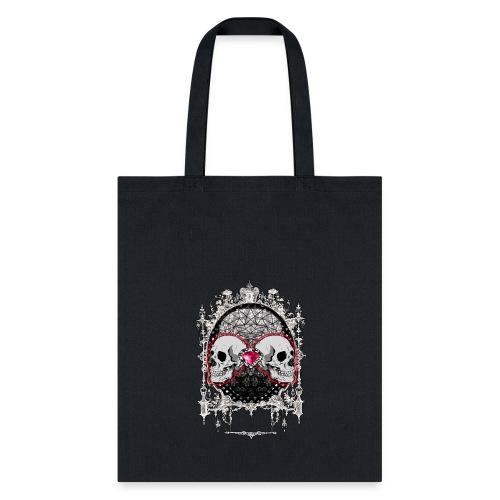 Victorian Halloween Skulls - Tote Bag