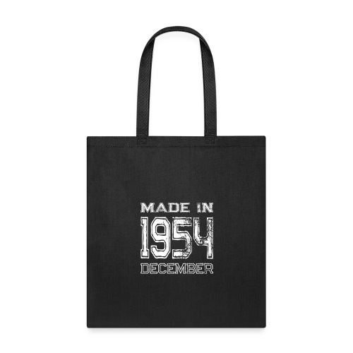 Birthday Celebration Made In December 1954 Birth Year - Tote Bag