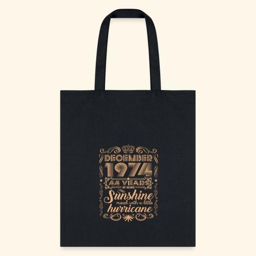 December 1992 26 Years Of Being Sunshine Hurricane - Tote Bag