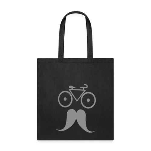 Men s Bicycle Moustache Funny T Shirt - Tote Bag