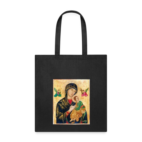 Icon of the Virgin Mary with baby Jesus - Tote Bag
