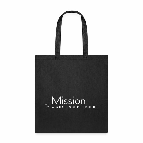 MM White Logo Clothing and Accessories - Tote Bag