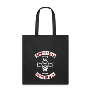 Deplorables - Made in USA - Bikers for Trump - Tote Bag