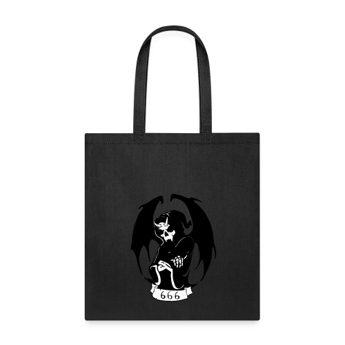Unit 666 Grey scale Front Print - Tote Bag