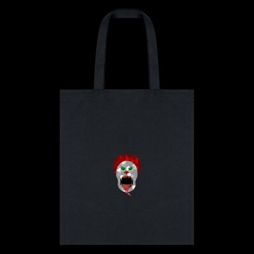 creepy clown Halloween design - Tote Bag