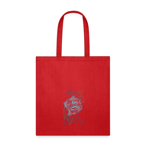Rosé All Day in Blue - Tote Bag