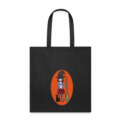 Gigi the good witch (orange oval background) - Tote Bag