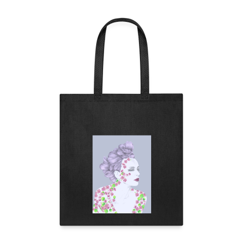 The Girl With The Flower Tattoo - Tote Bag