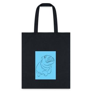 Blue Hippo - Tote Bag