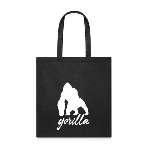 Gorilla Logo, White W/ Text - Tote Bag