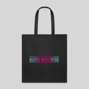 ALIENS WITH WIGS - Logo - Tote Bag