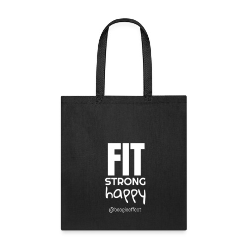fit strong happy white - Tote Bag