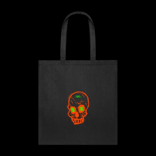 grunge skull - Tote Bag