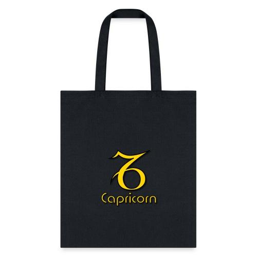 zodiac capricorn yellow 1 - Tote Bag