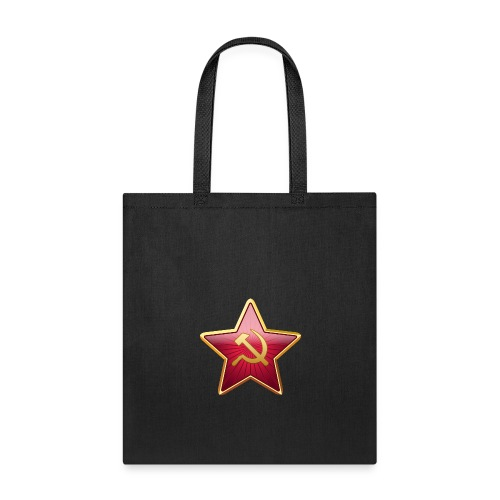 Red star with a sickle and a hammer - Tote Bag