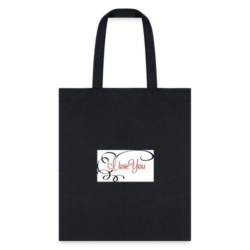 I love you Contrast Hoodie❤️❤️ - Tote Bag