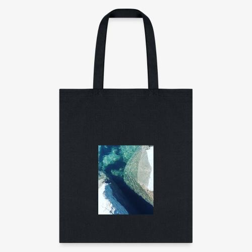 Rock underwater in New Zealand - Tote Bag