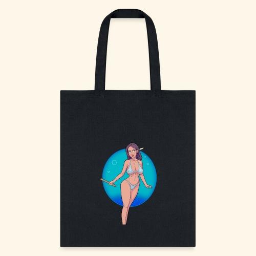 natural girl vector main crl crop - Tote Bag