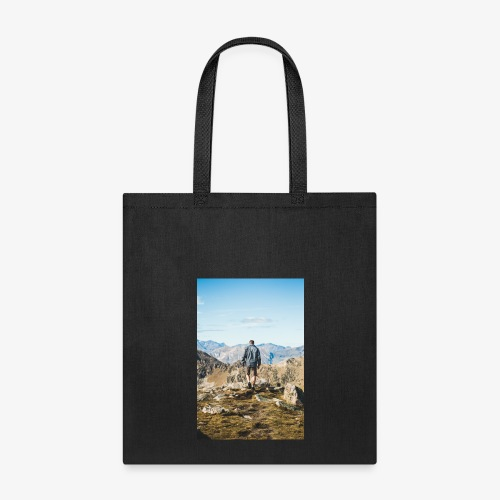 man hiking - Tote Bag
