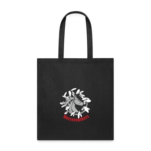 Gray Horsefeathers Head FEATHERS - Tote Bag
