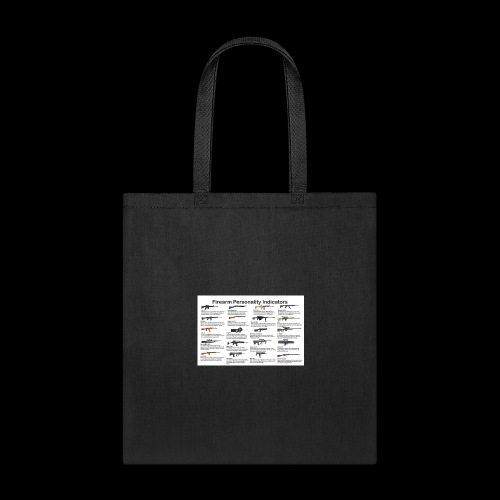 Pick one gun then read the personality discription - Tote Bag