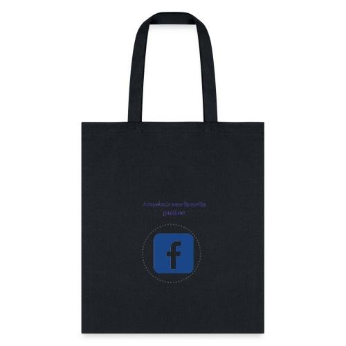 America's favorite pastime, facebook - Tote Bag