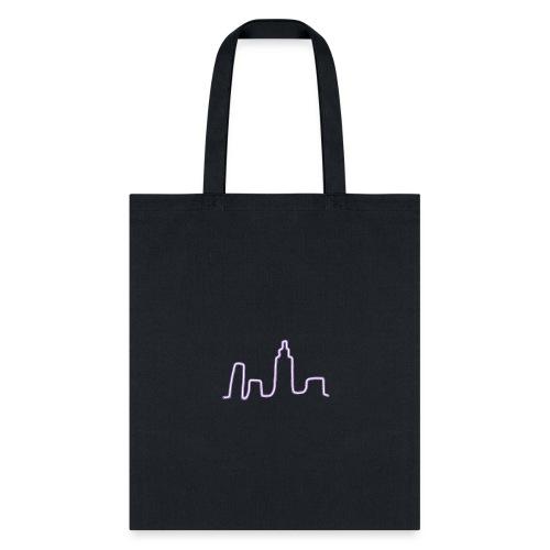 City Scape Neon Lights - Tote Bag