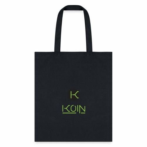 KOIN LOGO GREEN TRANSPARENT - Tote Bag