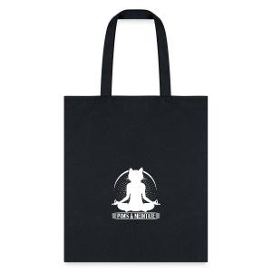 Kitty Meditation - Paws and Meditate - Tote Bag